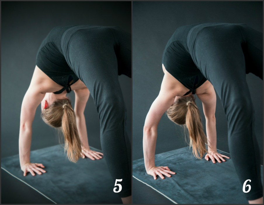 yoga schouders in urdhva dhanurasana achteroverbuiging