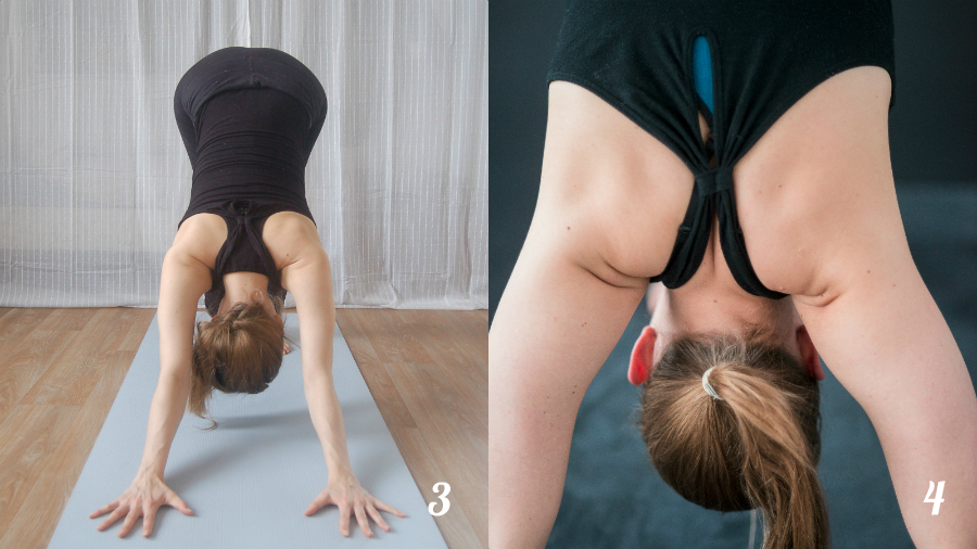 yoga hondhouding schouder alignment
