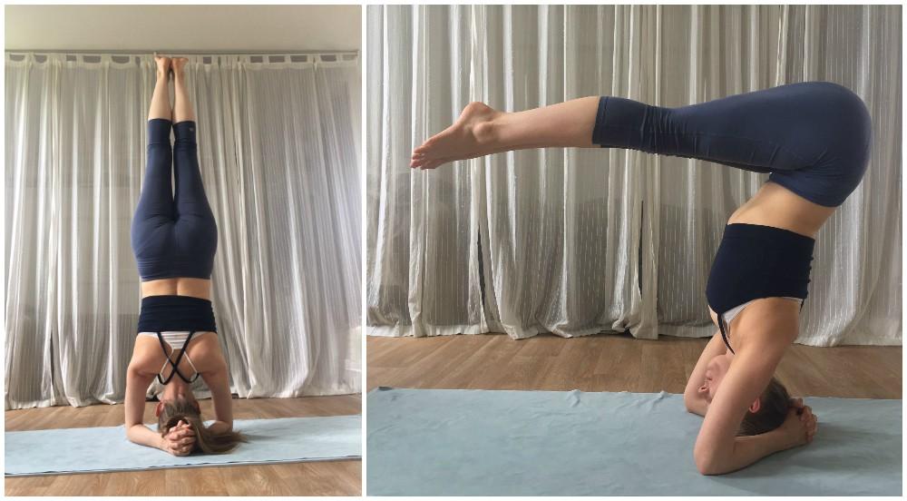 iyengar yoga series halve hoofdstand