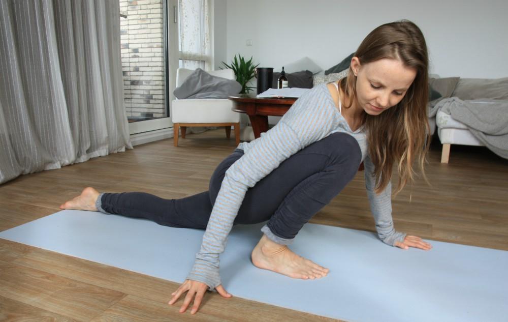yoga heupopener stretch