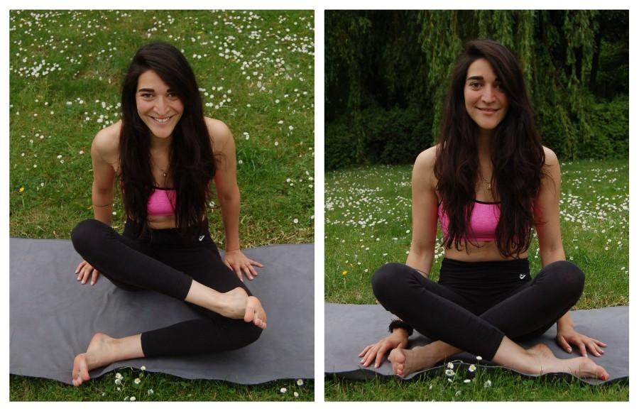 yoga heupopeners sukhasana dubbele duif
