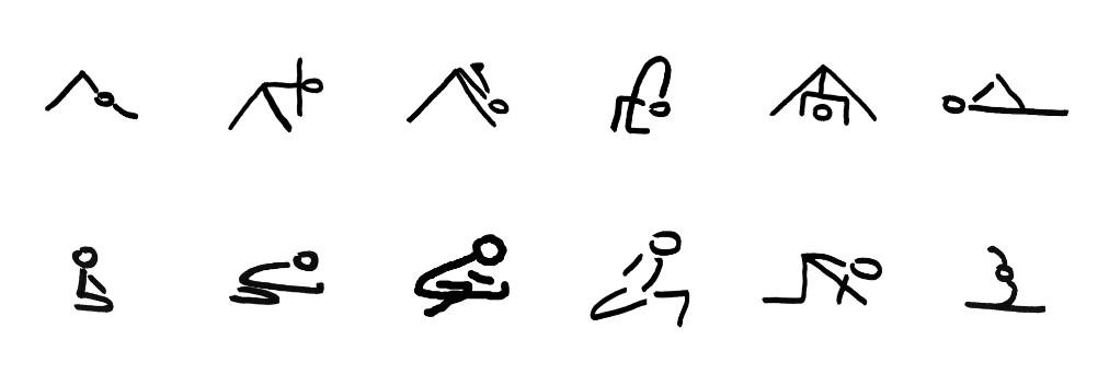 yoga houdingen hamstrings strekken