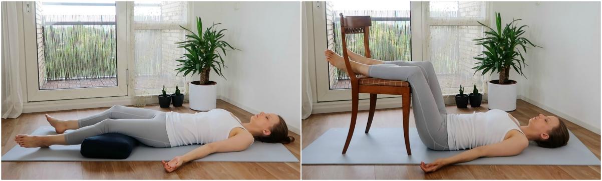 yoga oefeningen voor de onderrug - savasana