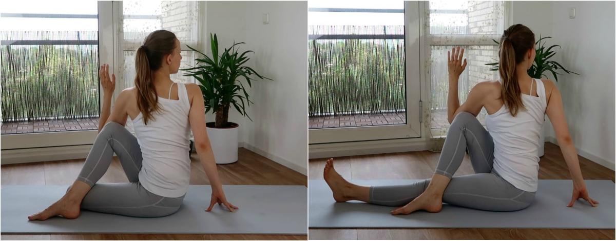 yoga oefeningen voor de onderrug - twistings