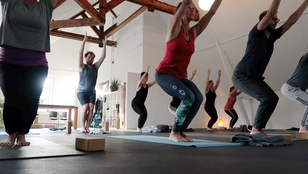 groepsles yoga