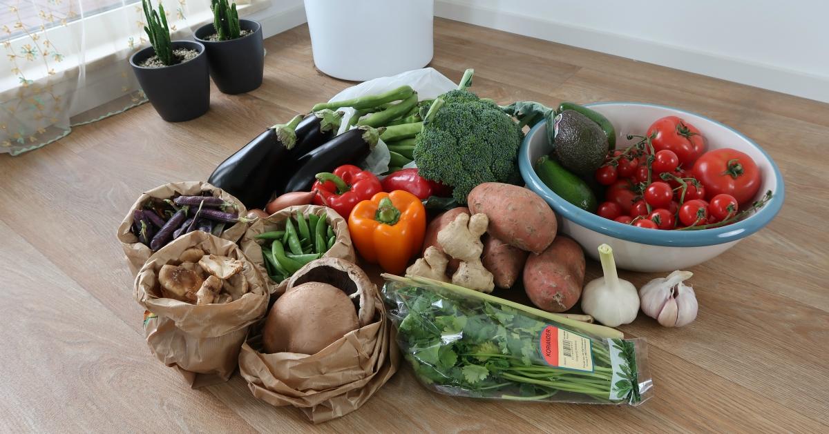 veganistisch eten op de markt groenten