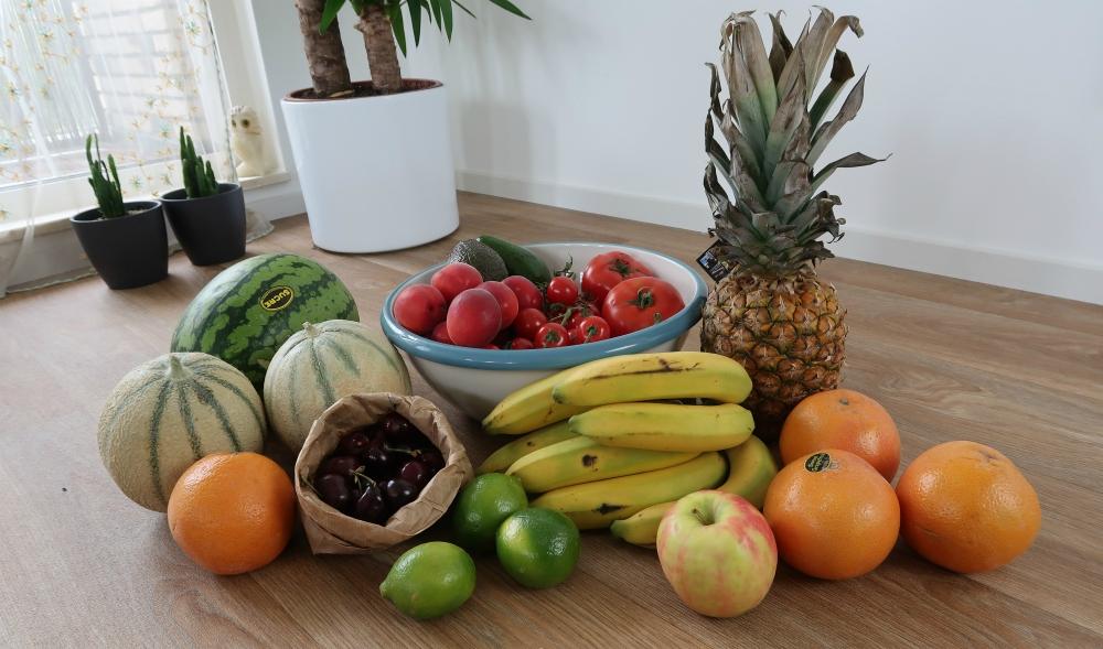 veganistische markt fruit