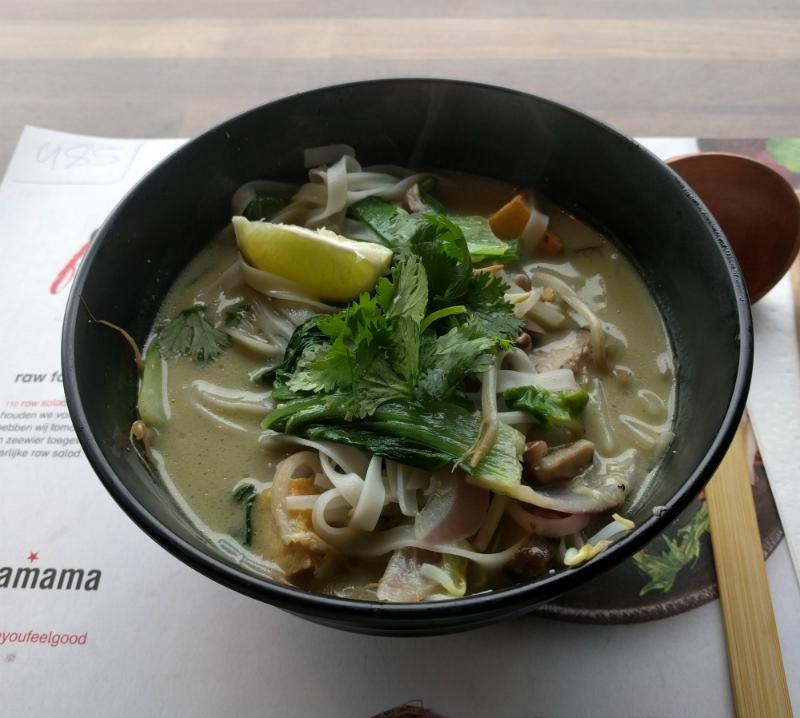 wagamama veganistische soep