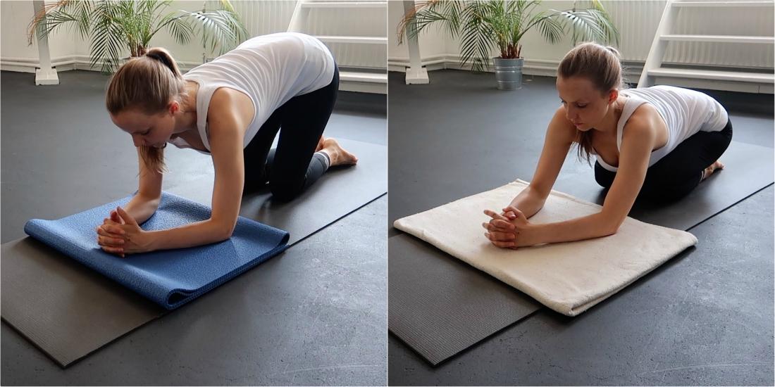yoga hoofdstand leren met ondersteuning