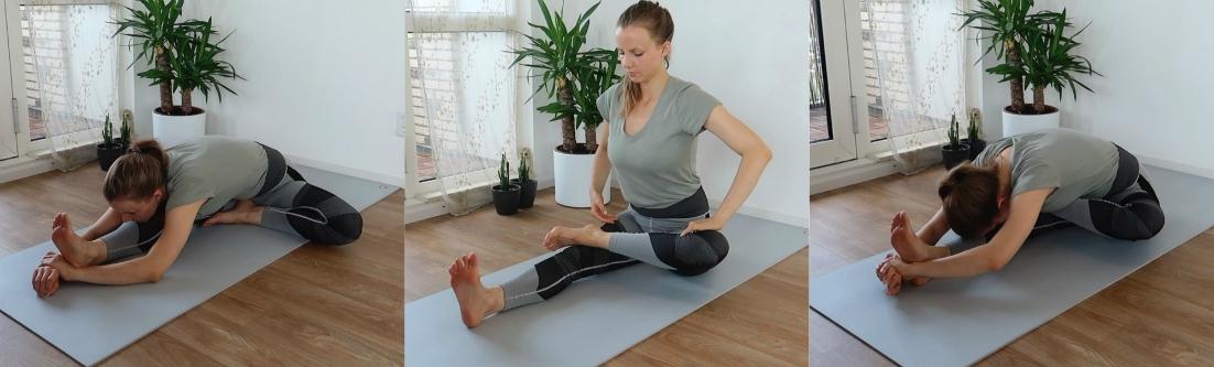 yoga leer de lotus vooroverbuigingen