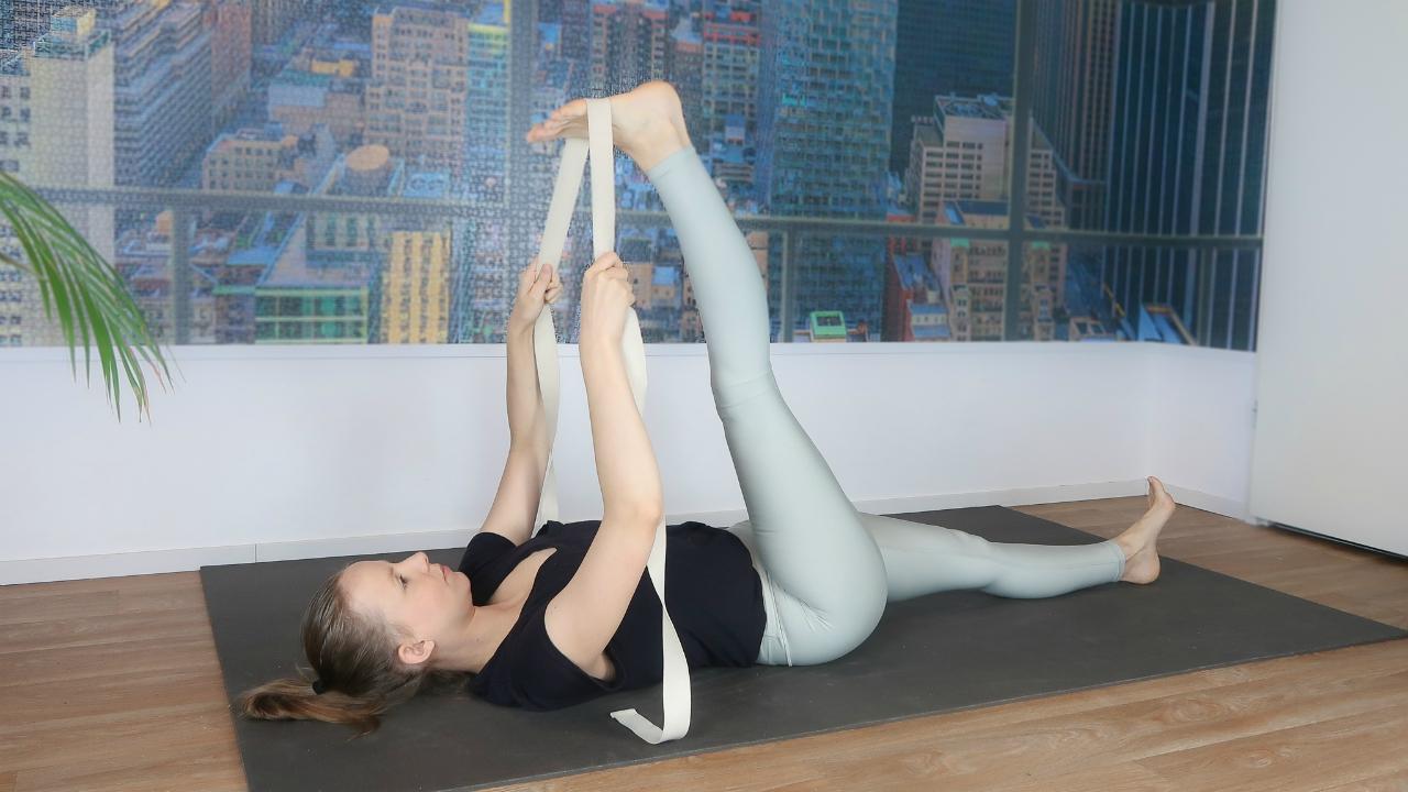 strekoefening hamstrings