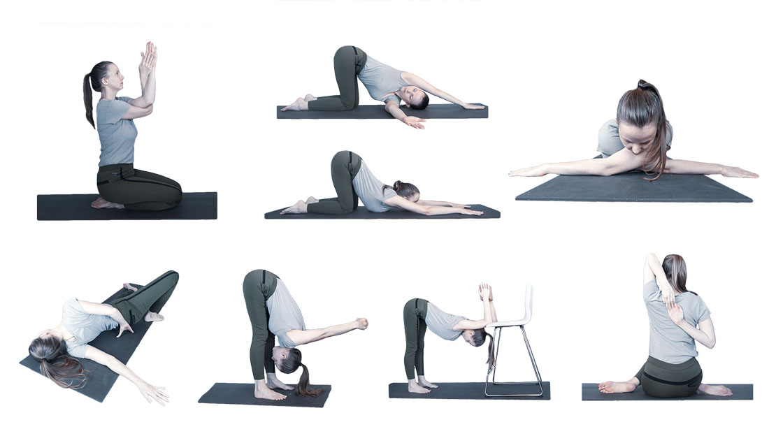 yogaserie voor de schouders
