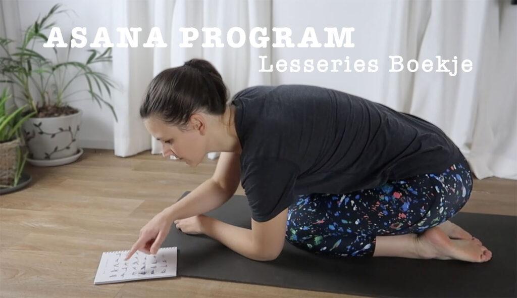 asana program lesseries yoga boek